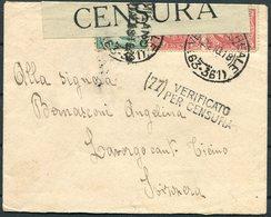 1918 Italy Censor Censura Cover Artiglieria Milano - Marcophilia