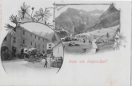 GRUSS VOM SIMPLO-DORF → Seltene Mehrbildkarte Ca.1900    ►RRR◄ - VS Wallis