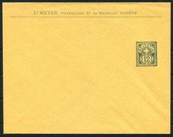 Switzerland Private Stationery Cover. Meyer Pharmacien Medecine. Geneve. Chemist Medical Pharmacy Geneva - Stamped Stationery