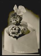 AK SW Mecki Mit Blumenstrauß Im Briefumschlag. Viel Glück! Eine Gunkel Karte, 2 Scans, 14,5 X 10,4 Cm - Mecki