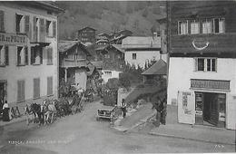 FIESCH → Ankunft Der Post Im Dorfzentrum, Ca.1910     ►RRR◄ - VS Wallis