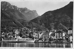 ST.GINGOLPH → Le Port / Der Hafen Mit Dampfschiff Anno 1946 - VS Valais