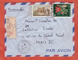 MALI LETTRE RECOMMANDEE DE 1964 DE BAMAKO POUR PARIS FRANCE - Mali (1959-...)