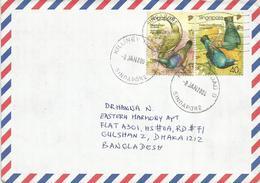 Singapore 2004. Cover Air Mail Letter,birds - Singapore (1959-...)