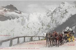 FURKASTRASSE - 5er Pferdegespann Beim Rhonegletscher, Ca.1900 - VS Valais