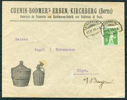 1910 Switzerland Cuenin Bodmer's Erben, Kirchberg Berne Illustrated Advertising Cover. Wicker Baskets - Switzerland