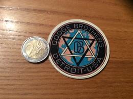 AUTOCOLLANT, Sticker  «DODGE BROTHERS DETROIT - USA » (voiture, Logo, étoile De David) - Autocollants
