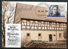 """Germany 2007 Post Modern Privatpost Maximumkarte Mi.Nr.???""""Samuel Freiherr Von Putendorf,Naturlehre""""mit TST""""1 MC - Natur"""