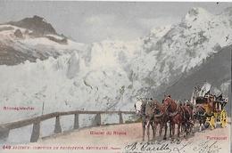 FURKASTRASSE - 5er Pferdegespann Beim Rhonegletscher Anno 1903 - VS Wallis