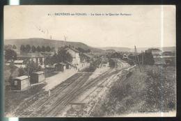 CPA Bruyères En Vosges - La Gare Et Le Quartier Barbazan - Circulée 1919 - Bruyeres