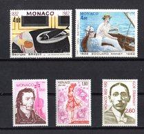 Principato Di  MONACO :   Anniversari Della Nascita Di Celebrità - 5  Val. MNH**   08.11.1982 - Monaco