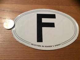 AUTOCOLLANT, Sticker «F - SÉLECTION DU READER'S DIGEST» - Autocollants