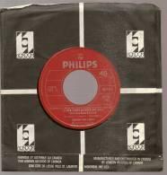 "45 Tours SP - JOHNNY HALLYDAY - PHILIPS 6042461 -  "" LE BON TEMPS DU ROCK AND ROLL ""  ( CANADA ) - Vinyles"