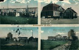 Mine De Potasse D'Alsace Multi-vues De Wittenheim   Carte Rognée 1914 - Wittenheim