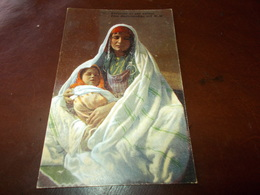 B703  Beduina Et Son Enfant Cm14x9 Non Viaggiata - Arabie Saoudite
