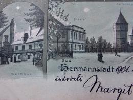Romania Roumanie Cpa Postcard  - LITHO SIBIU HERMANNSTADT - 1901 Multi View - Roumanie