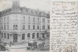 GRUSS AUS WYL → Postkutsche Vor Dem Postgebäude Anno 1900   ►RRR◄ - SG St. Gallen