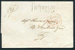 1840 GB London 1d PAID Portugal Street Pre Philatelic Wrapper - ...-1840 Prephilately