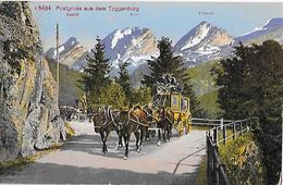 POSTGRUSS AUS DEM TOGGENBURG → 4-Spänner Postkutsche Unterwegs Im Gebirge Ca.1910 - SG St. Gall