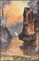Jotter - Sunset And Smoke, Sheffield, Yorkshire, C,1910 - Tuck's Oilette Postcard - Sheffield