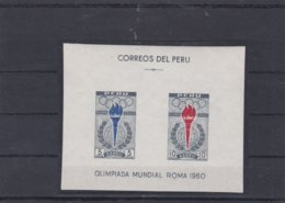 Peru 1960 Rome Olympic Games Souvenir Sheet MNH/** (M43) - Sommer 1960: Rom