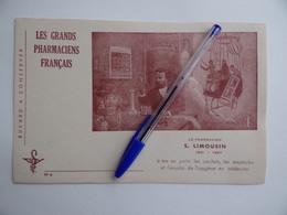 BUVARD Les GRANDS PHARMACIENS FRANCAIS N° 6 S.LIMOUSIN 1831 1887 Pharmacie Pharmacien - Produits Pharmaceutiques