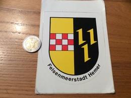 AUTOCOLLANT, Sticker « Felsenmeerstadt Hemer» Allemagne (blason) - Autocollants