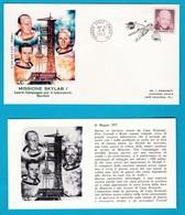 1973 FDC Roma Missione Skylab I Spazio Space America 6 Buste Con Cartolina - FDC & Commemorrativi