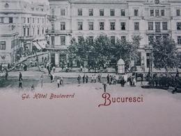 Romania Roumanie Cpa Postcard  - BUCURESTI - Grand Hôtel Boulevard - Roumanie