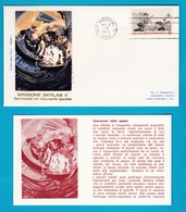 1973 FDC Roma Missione Skylab II Spazio Space America 5 Buste Con Cartolina - FDC & Commemorrativi