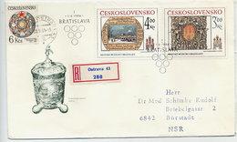 CZECHOSLOVAKIA 1984 Historic Bratislava  On FDC.  Michel 2770-71 - FDC