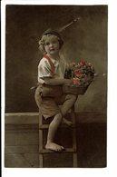 CPA - Cartes Postales -Belgique -Photographie D'une Jeunefilleavec Bouquet De Fleurs-S3924 - Photographie
