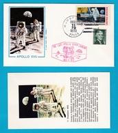 1972 / 75 FDC Roma Missione Apollo XVII E Missione Apollo Soyuz Space 8 Buste Con Cartolina - FDC & Commemorrativi
