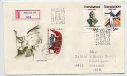 CZECHOSLOVAKIA 1983 Prague Castle  On FDC.  Michel 2721-22 - FDC