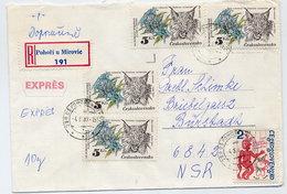 CZECHOSLOVAKIA 1983 Registered Cover With Commemorative Franking. - Czechoslovakia