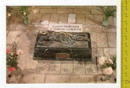 LE FERRIERE (LT) Luogo Del Martirio Di S. Maria Goretti, Statua In Bronzo FG NV SEE 2 SCANS - Santi