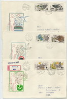 CZECHOSLOVAKIA 1983 Nature Protection On 3 FDCs.  Michel 2711-16 - FDC