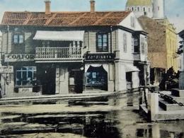 Romania Roumanie Cpa Postcard  - CONSTANTA- Photo Shop On Piata Ovidiu - Roumanie