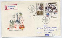 CZECHOSLOVAKIA 1983 Intercosmos Ex Block On FDC.  Michel 2710 - FDC