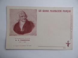 BUVARD Les GRANDS PHARMACIENS FRANCAIS A.A.PARMENTIER 1737 1813 Pharmacie Pharmacien - Produits Pharmaceutiques