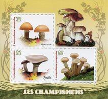 Madagascar 2017 MNH Mushrooms 3v M/S Champignons Fungi Nature Stamps - Mushrooms