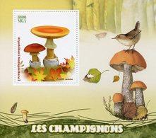 Madagascar 2017 MNH Mushrooms 1v S/S Champignons Fungi Nature Stamps - Mushrooms