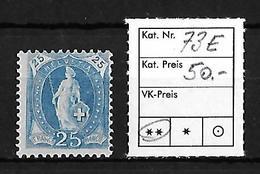 1882-1904 STEHENDE HELVETIA → SBK-73E** - 1882-1906 Wappen, Stehende Helvetia & UPU