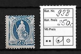 1882-1904 STEHENDE HELVETIA → SBK-93B* - Neufs