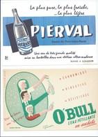 BUVARD X 2  O'BULL  PIERVAL Bien - Alimentaire