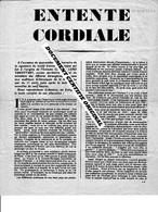 TRACT 39/45 - ENTENTE CORDIALE En 1944 - Documenti Storici