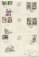 CZECHOSLOVAKIA 1982 Music Engravings On  3 FDCs.  Michel 2661-65 - FDC