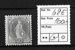 1882-1904 STEHENDE HELVETIA → SBK-69E* - Unused Stamps