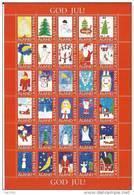 Feuille De Vignettes De Noël Des Iles Aland 1994 Neuve - Aland