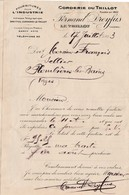 Petite Facture / Courrier 1923 / Fernand DREYFUS / Corderie / 88 Le Thillot - 1900 – 1949
